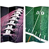 Oriental Furniture 6 ft. Tall Double Sided Football Canvas Room Divider