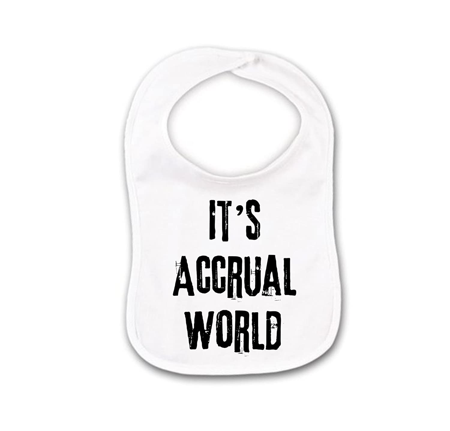Funny Baby Bib or Burp Cloth With Sayings, It's Accrual World, Accountant, Accounting or CPA, Tax Preparer It's Accrual World