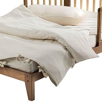 Amazon.com: Algodón orgánico bebé Comforter con lana Fill + ...