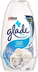 Glade Solid Air Freshener, Deodorizer for Home and Bathroom, Clean Linen, 6 Oz