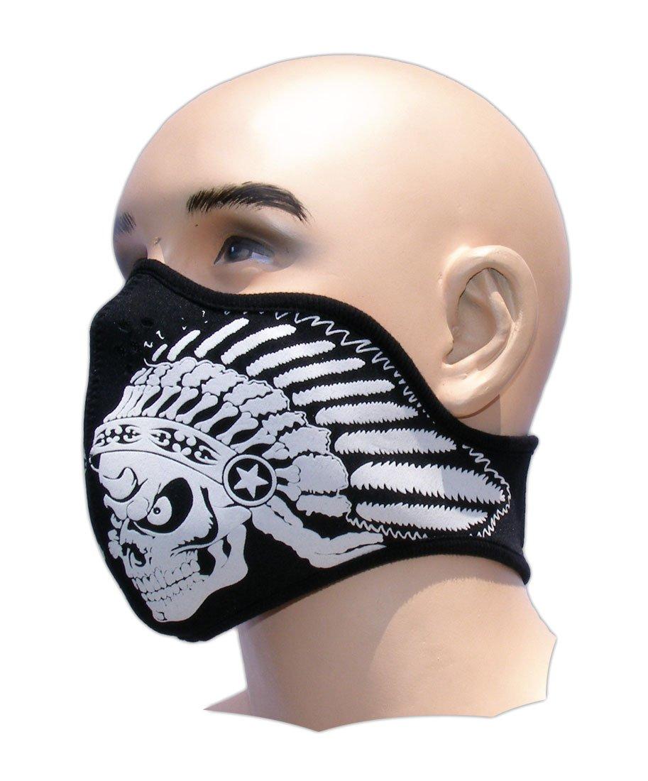 Biker Tattoo Motorrad Mundschutz Maske Neopren Feinstaubfilter Snowboard Ski Extrem Sport Paintball Totenkopf Indianer Bestellmich.com