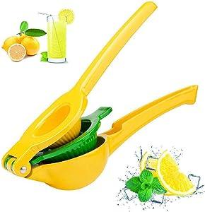 Premium Quality Metal Lemon Lime Squeezer - Manual Citrus Press Juicer,Professional Hand Juicer Kitchen Tool(yellow)