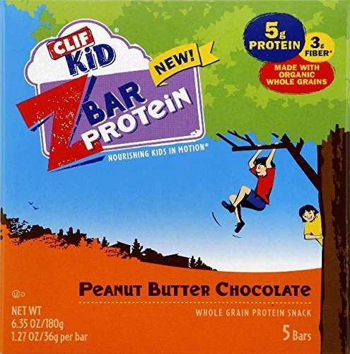 Z Bar Protein Bar Peanut Butter Chocolate (Pack of 6) by Clif Kid ZBar by Clif Kid ZBar