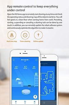 Xiaowa Xiaomi Planificada Edición Avanzada Robot Aspirador Sweep-Mop App Control 5200Ah 2000Pa Versión Internacional Gris: Amazon.es: Hogar