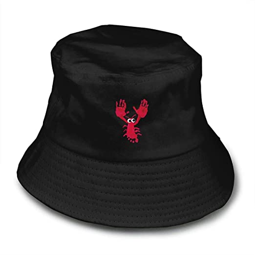 cc7b621cd4ac1 Red Lobster Hand Bucket Hat Summer Fisherman Cap Foldable Sun Protection Hat  at Amazon Men s Clothing store