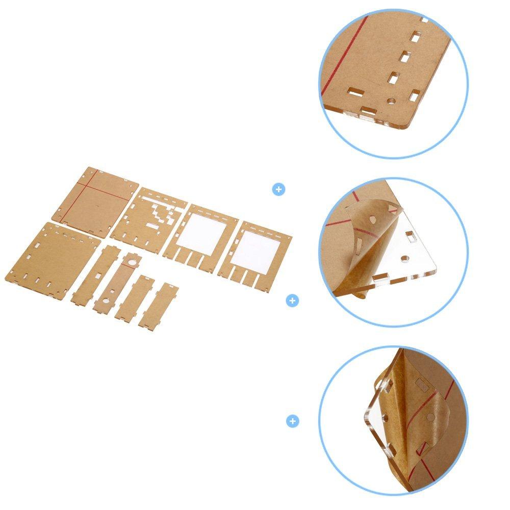 KKmoon DSO138 2.4 TFT portable Pocket-size num/érique oscilloscope Kit bricolage pi/èces acrylique bricolage Case Cover Shell pour DSO138