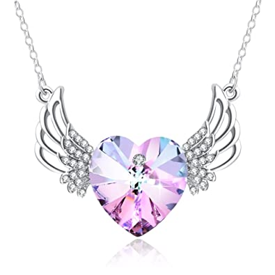 Amazon angel wing necklace christmas gifts plato h angel wings angel wing necklace christmas gifts plato h angel wings guarded heart pendant necklace with swarovski crystals aloadofball Choice Image
