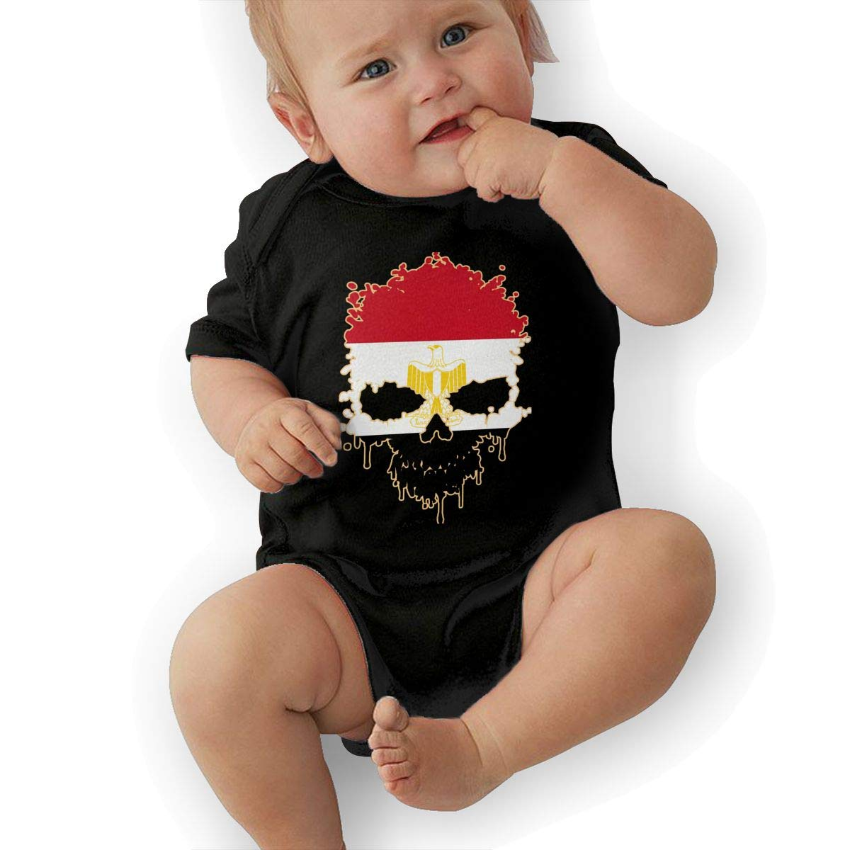 U88oi-8 Short Sleeve Cotton Rompers for Baby Girls Boys Soft Egypt Skull Sleepwear