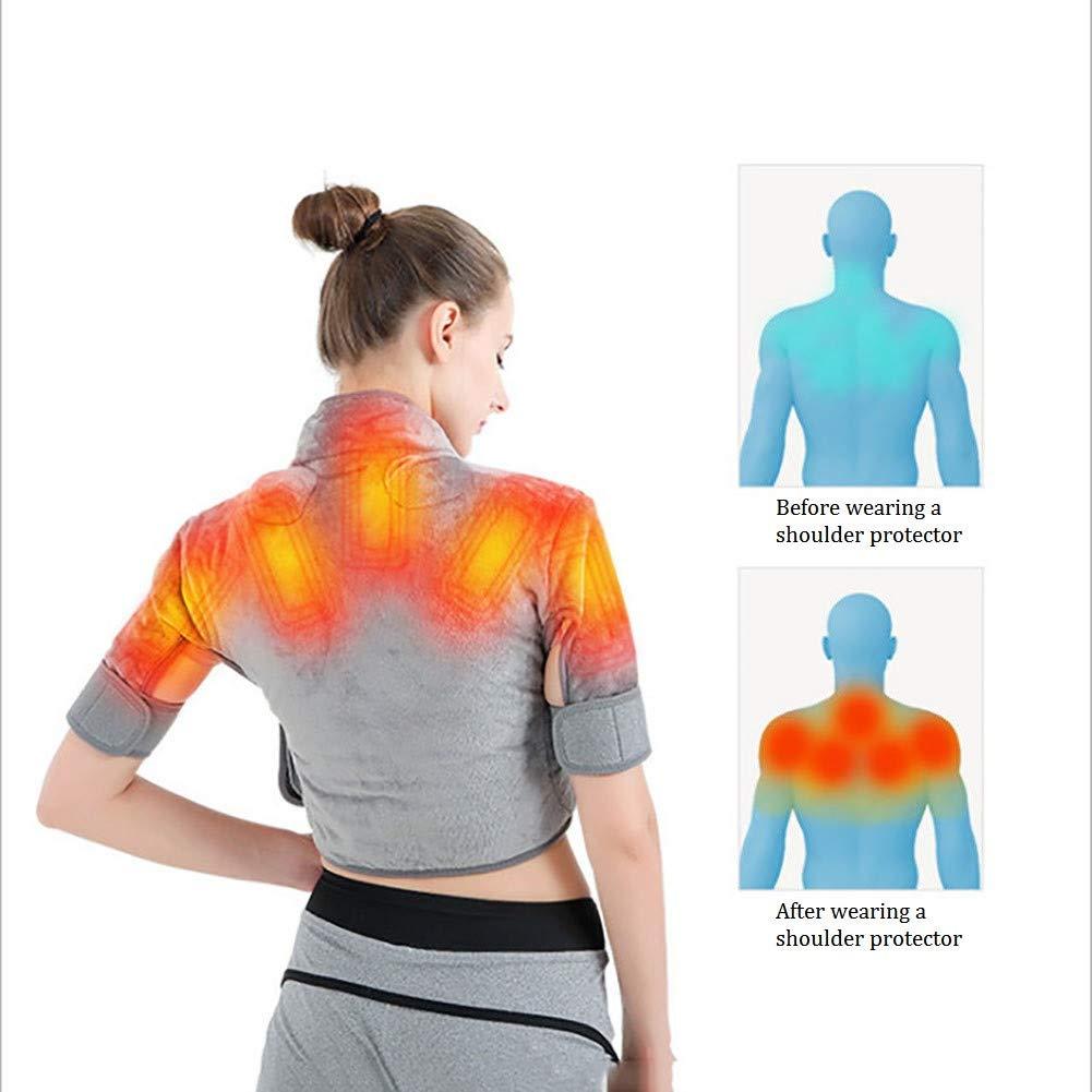 Musculaires et Traitement de la Tension avec 3 r/églages de chaleurpy ZSBY Coussin Chauffant /Électrique Nuque et /Épaules Portable pour Soulagement des douleurs dans Le Dos Entier