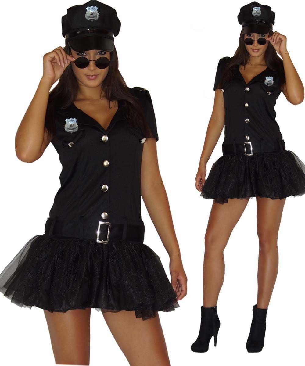 Maylynn 13709 -Disfraz de Mujer policía Sexy, Vestido y Gorra, Talla M