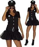 Maylynn 13709 - Costume da poliziotta sexy - vestito con cappello - nero - XS - 40/42