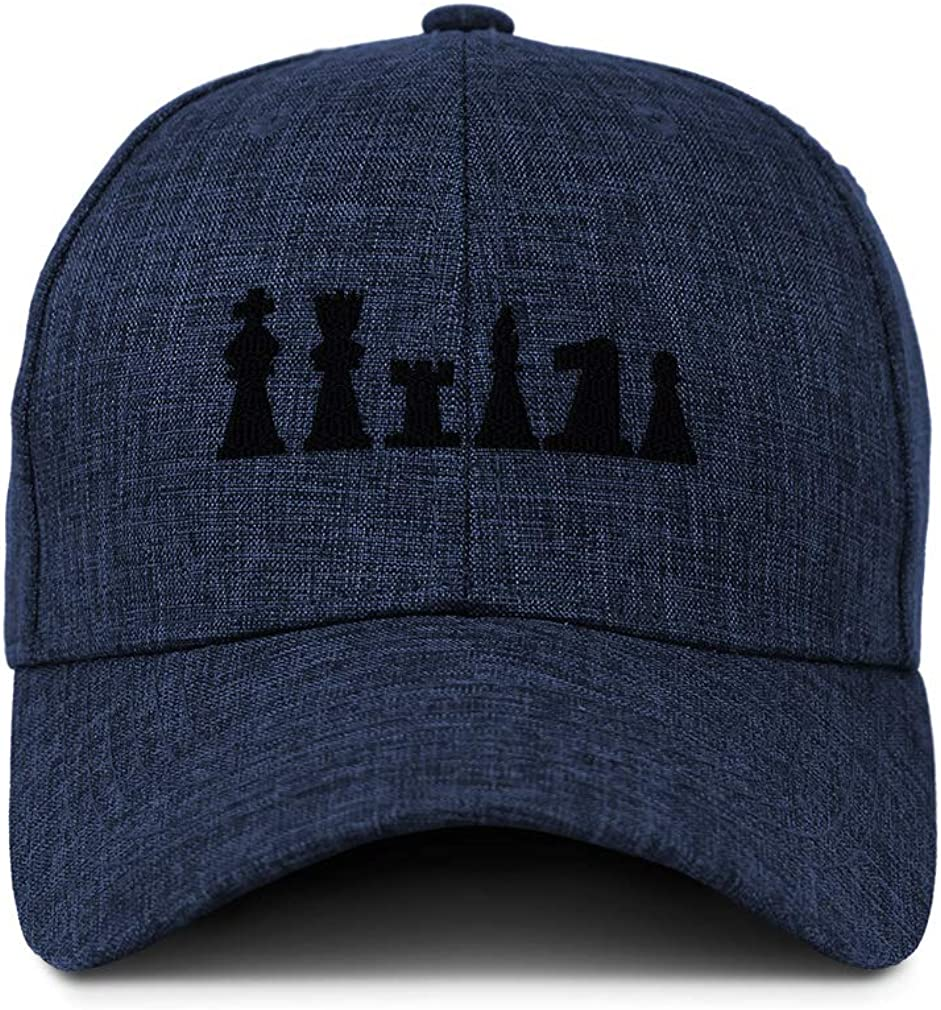 Custom Baseball Cap Full Set Chess Pieces Embroidery Casual Hats for Men /& Women