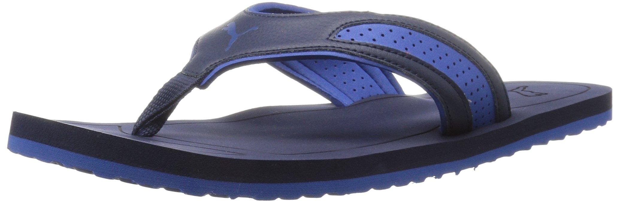 PUMA Men's Epic Flip V2 Tech Athletic Sandal, Peacoat-True Blue, 5 M US