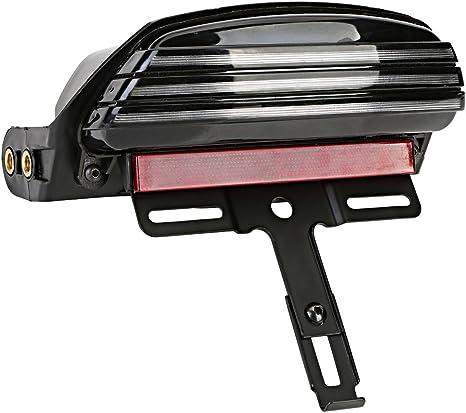 eclear motociclo Fanale posteriore Vintage LED luce freno kennze ichn lampada luci posteriori Luci di stop Indicatore Luce di segnale per Harley Softail FXST FXSTB Nero
