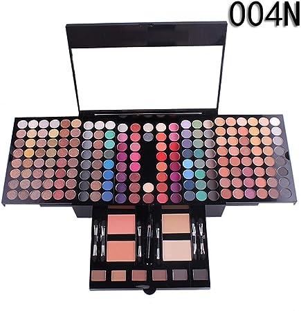 SKFG® 180 Colores Maquillaje Ojos Delineadores Maquillaje Profesional Kit Set Caja Desnudos Colores Paleta De Sombras Conjunto Vegano Ojo Paleta FuncióN Maquillaje,004N: Amazon.es: Hogar