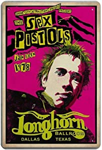 Bit SIGNSHM The Sex Pistols Retro Metal Tin Sign Plaque Poster Wall Decor Art Shabby Chic Gift Suitable 12x8 Inch