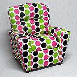 Brazil Furniture Cupholder Child Recliner - Fancy /Black