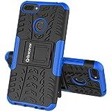 Bracevor Shockproof Hybrid Kickstand Back Case Defender Cover for Honor 9N - Blue