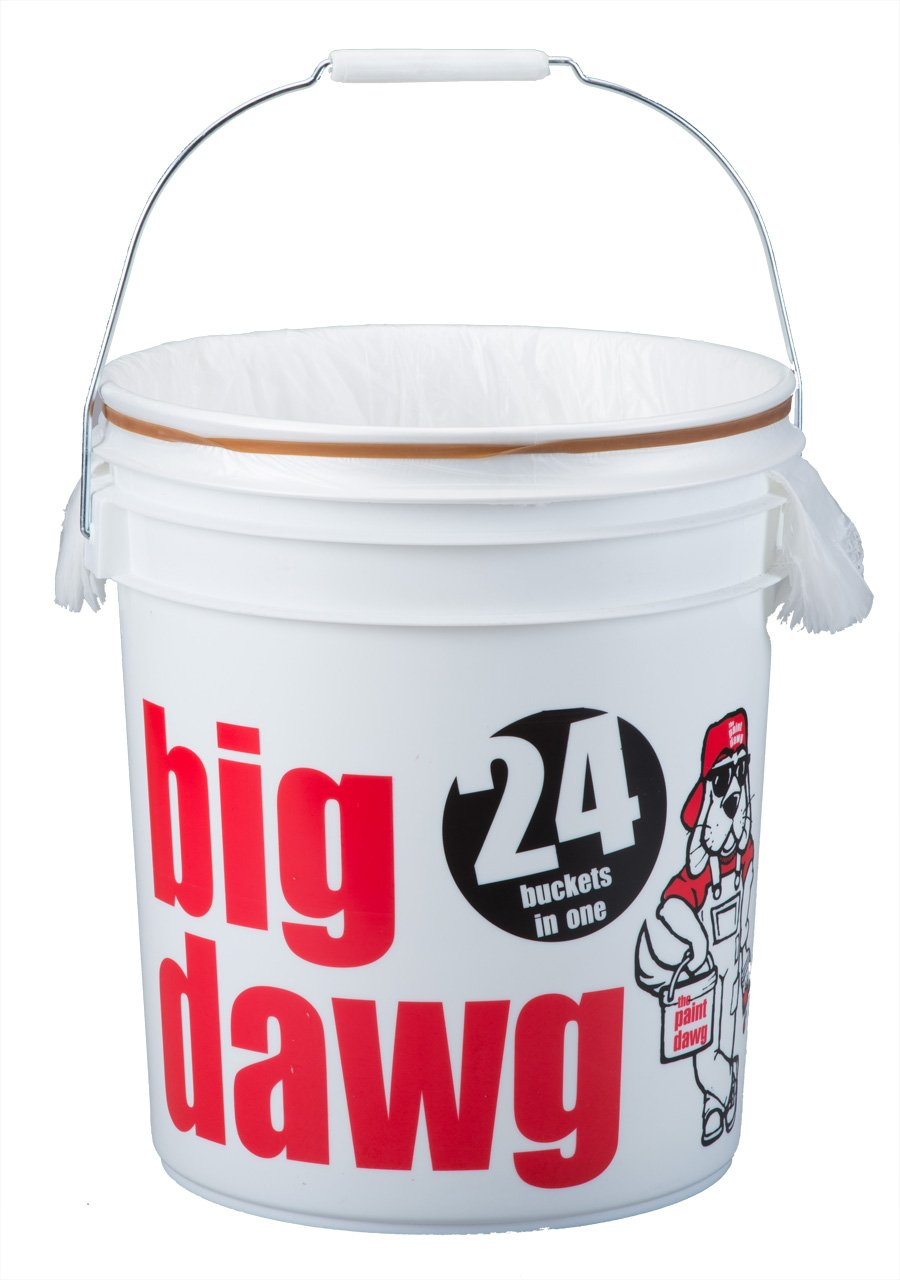 Dripless The Big Dawg Multi Liner Bucket with 24 Liners, 5 Gallon Pail by Dripless