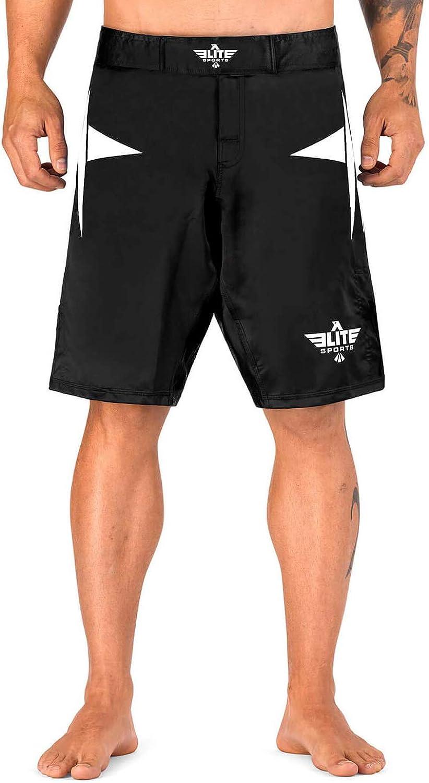 Elite Sports Men's MMA Fight Shorts, Star Series UFC, BJJ, No Gi, Grappling, Jiu Jitsu Shorts : Clothing