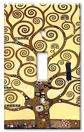 Art Plates - Klimt: The Tree of Life Switch Plate - Single Toggle