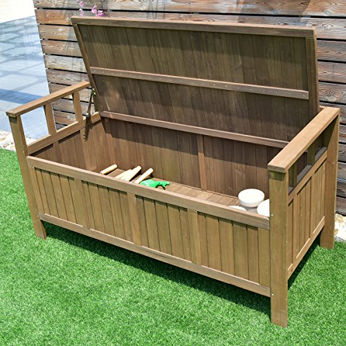 Giantex 70 Gallon Storage Bench All Weather Outdoor ...