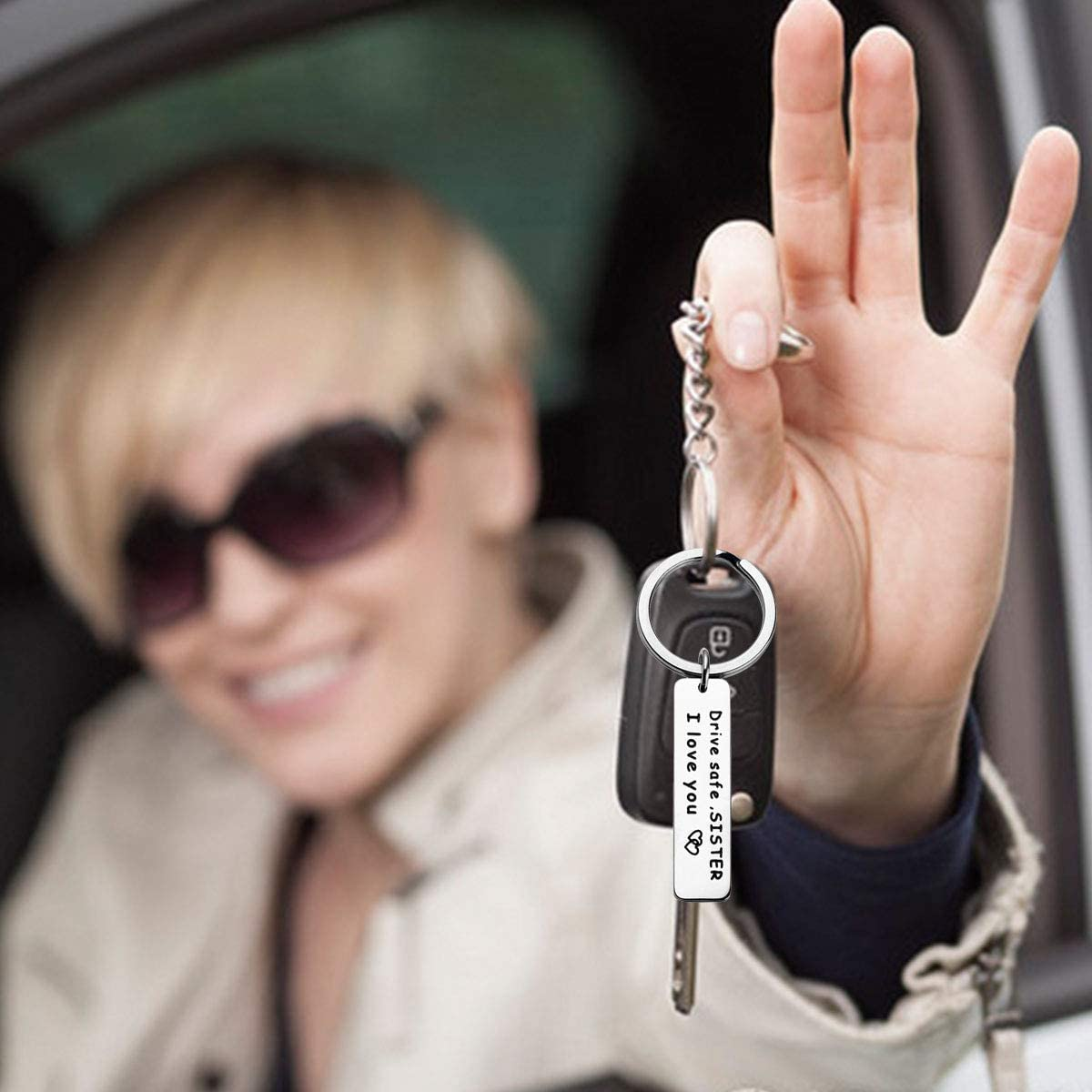 Ldurian Drive Safe Keychain Brother I Love You Keychain Gift for Brother Family Jewelry