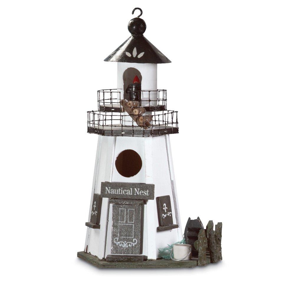 Gifts & Decor Nautical Nest Wood Lighthouse Bird House Furniture Creations - LG 30208