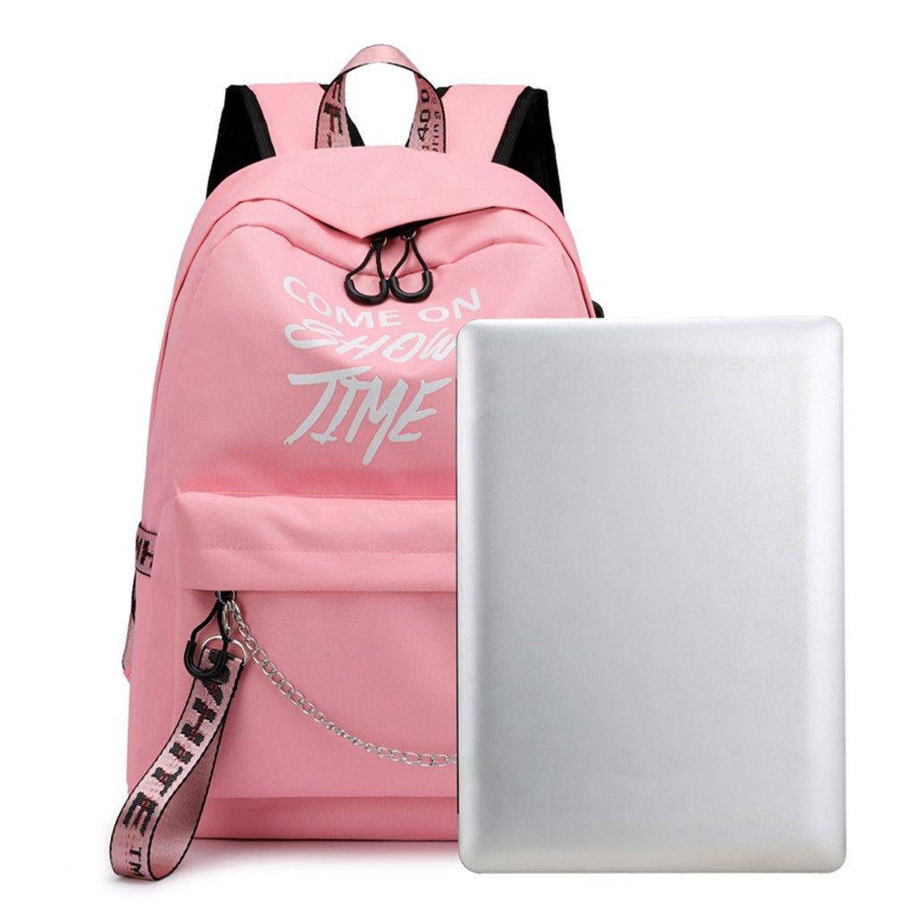 Amazon.com: Lamdoo School Bag Travel Waterproof Laptop Backpack Luminous Lyrics Print Charger USB Light Gray: Home & Kitchen