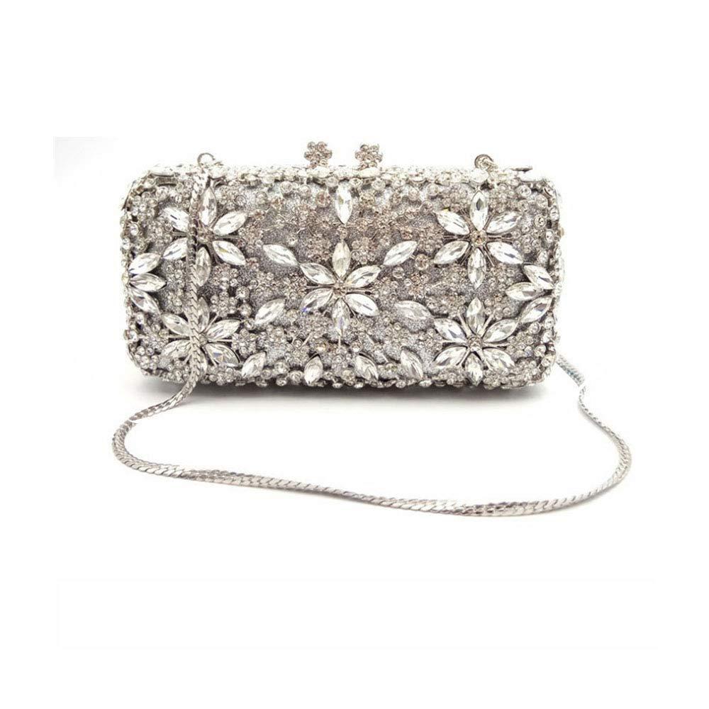 ハイエンドの純粋な手作りのディナーバッグイブニングドレスパターンダイヤモンド女性クラッチバッグヨーロッパとアメリカのラインストーン印刷ハンドバッグ   B07RMDVSM3