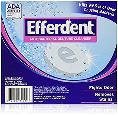 Efferdent Anti Bacterial Denture Cleanser Tablets