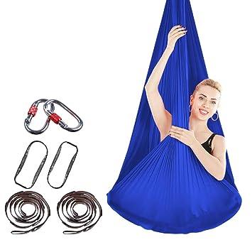 Elasticidad Aéreo Yoga Hamaca Seda Antigravity Slings Cinturón de ...