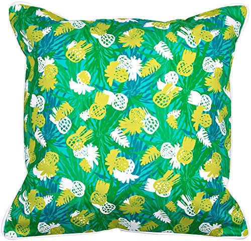Island Girl Home IGH-P64 Pineapple Parade Pillow, 20x20,Blue