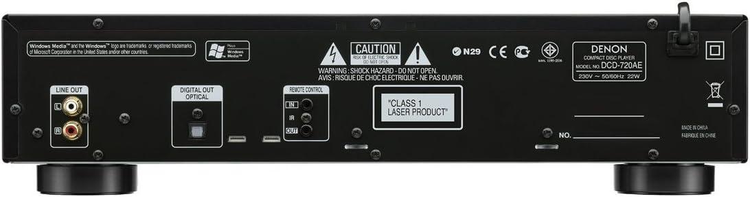 Reproductor CD Denon DCD-720 AE Color Negro: Amazon.es: Electrónica