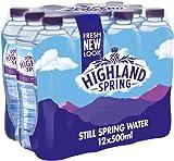Highland Spring Still Spring Water, 12 x 500ml