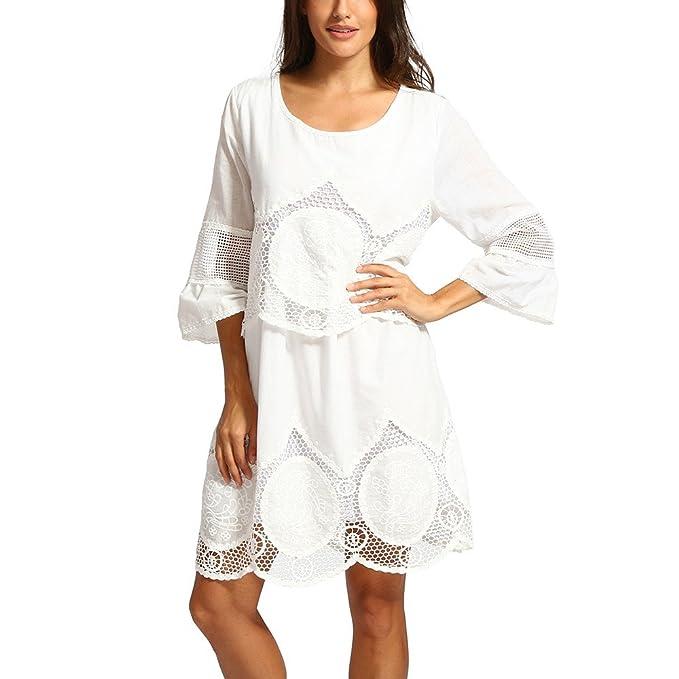 dba1b189736b8 ... Juveniles Moda Mujer 2019 Rebajas Vestidos Vestidos De Coctel Cortos  Elegantes Vestidos Playa Vestidos De Coctel para Bodas Vestidos  Amazon.es   Ropa y ...