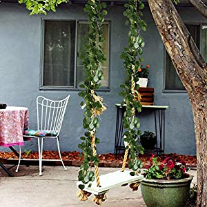 HO2NLE 12 Pack 84 Feet Artificial Fake Hanging Vines Plant Faux Silk Green Leaf Garlands Home Office Garden Outdoor Wall Greenery Cover Jungle Party Decoration 5