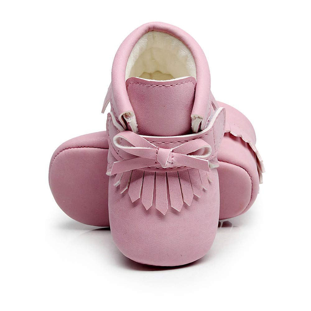 Boys and Girls Baby Winter Warm Martin Shoes Fashion Fringed Bow Short Boots Crib Shoes jufengliangyou Toddler Shoes