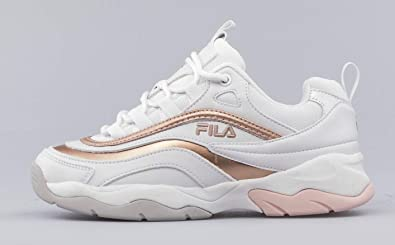 4e82600e8bd3 Fila 1010613 Ray F Low Primavera Estate 2019 Bianco Rosa  Amazon.fr  Chaussures  et Sacs