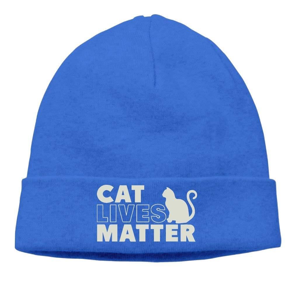 Unisex Black Cat Lives Matter Kitten Kitty Winter Beanie Hat Skull Cap