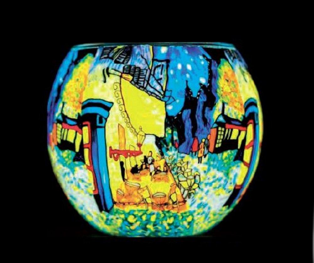 Benaya Cafe By Night Tealight Holder Benaya Art Ceramics