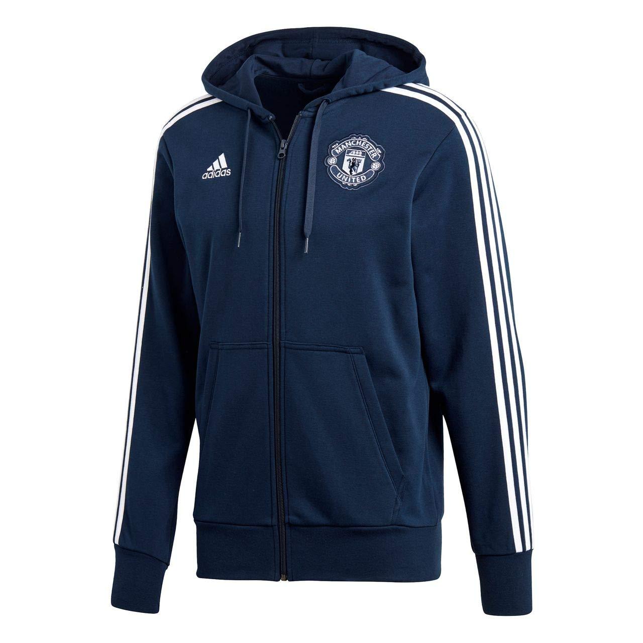 Adidas Herren Manchester United 3s Full Zip Hoodie Kapuzenjacke