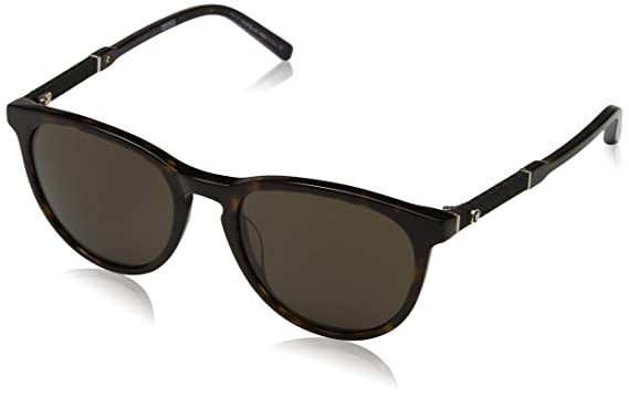 60784bc0596a Sunglasses Montblanc MB 588S MB588S 52E dark havana   brown at ...