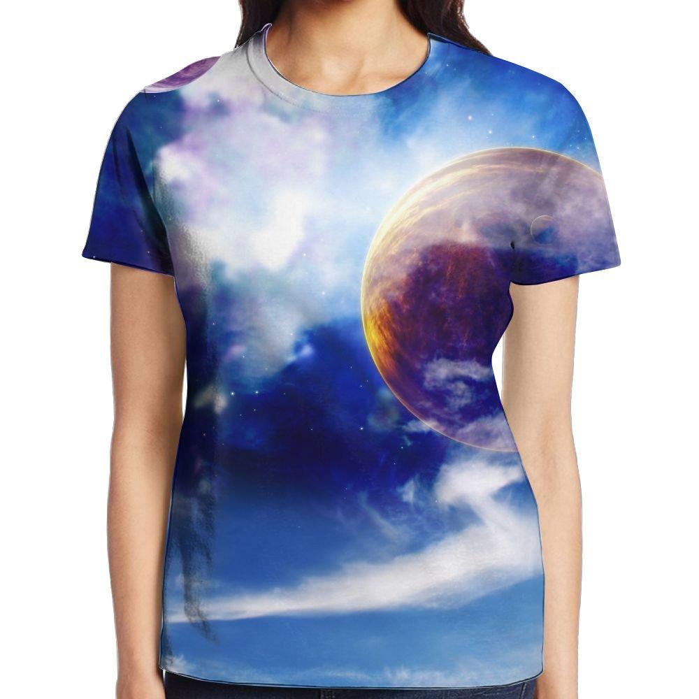 Earth's Secret Women's Popular Graphic Tee Crew Neck T-Shirt by XIA WUEY