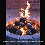 Myard Fireproof Human Fire Pit Skull Gas Logs for