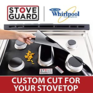 Whirlpool Stove Protectors - Stove Top Protector for Whirlpool Gas Ranges - Ultra Thin, Easy Clean Stove Liner