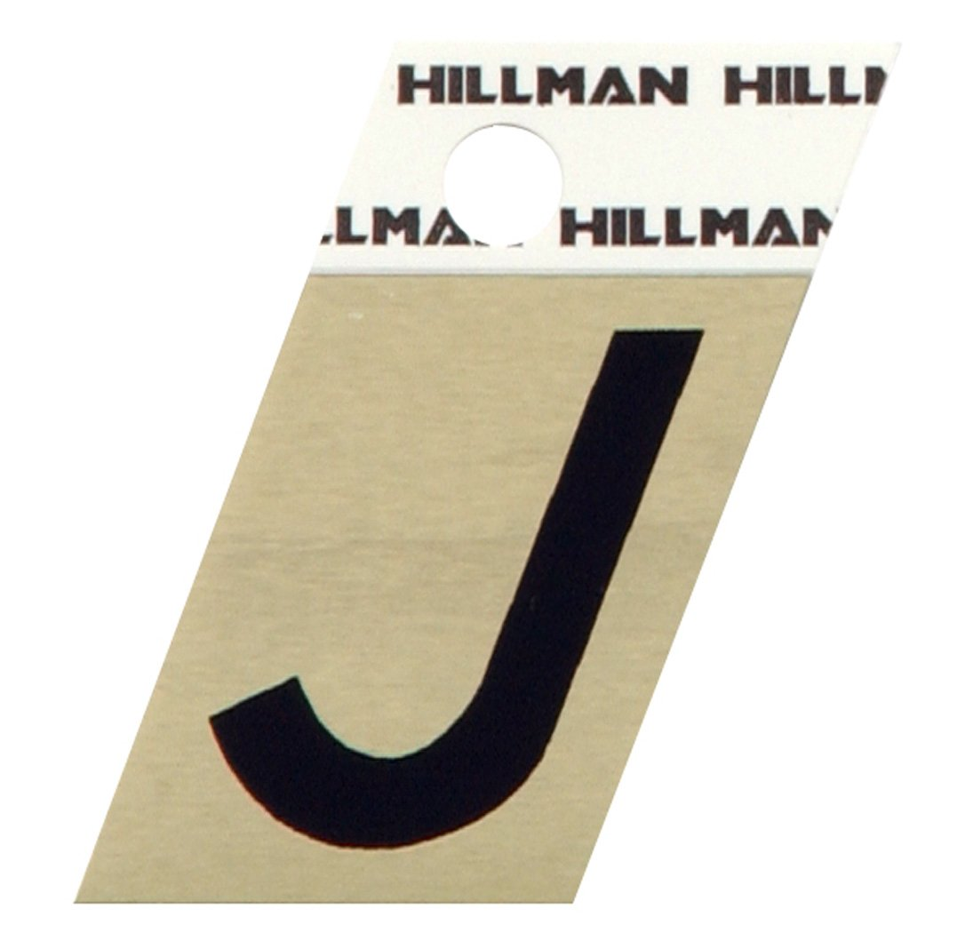 The Hillman Group 840512 1-1/2-Inch Aluminum Angle-Cut Letter J