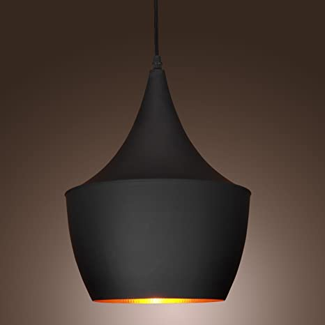 KJLARS moderno Lampadari a sospensione con paralume in nero metallo ...
