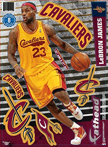 NBA Cleveland Cavaliers LeBron James Fathead Teammate Player Decal, 12 x 17-inches