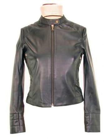 63802e0001 Alpakaandmore Women's Lamb Nappa Leather Jacket Stand-up Collar ...